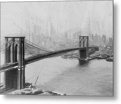 Brooklyn Bridge 2 Metal Print by Steve K