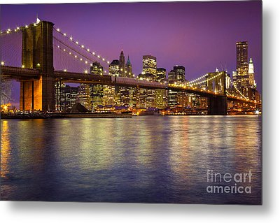 Brooklyn Bridge Metal Print by Inge Johnsson