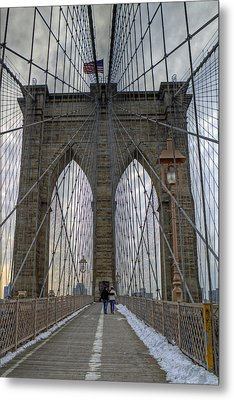 Metal Print featuring the photograph Brooklyn Bridge by Jerry Gammon