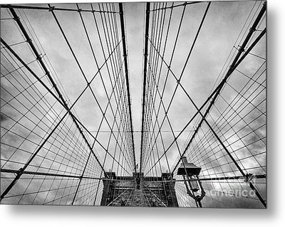 Brooklyn Bridge Metal Print by John Farnan