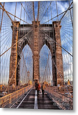 Metal Print featuring the photograph Brooklyn Bridge by Paul Fearn
