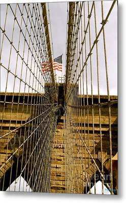 Brooklyn Bridge Metal Print by Roseann Errigo