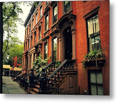 Brooklyn Brownstone - New York City Metal Print by Vivienne Gucwa