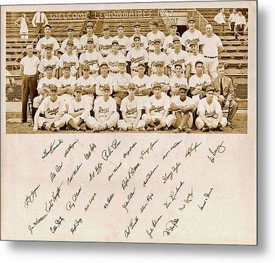 Brooklyn Dodgers Baseball Team Metal Print by Bellesouth Studio