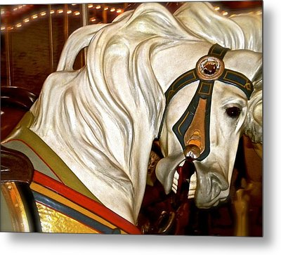 Metal Print featuring the photograph Brooklyn Hobby Horse by Joan Reese