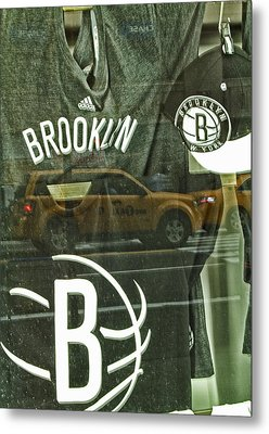 Brooklyn Nets Metal Print by Karol Livote