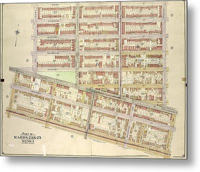 Brooklyn, Vol. 2, Double Page Plate No. 14 Part Of Wards 23 Metal Print
