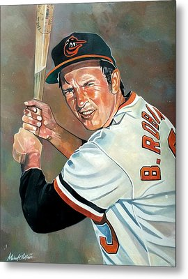 Brooks Robinson Metal Print by Michael  Pattison