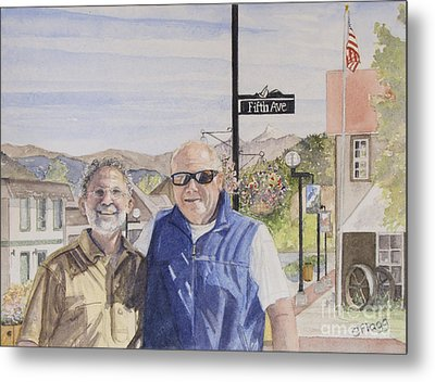 Metal Print featuring the painting Bros by Carol Flagg