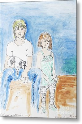 Brother And Sister Metal Print by Barbara Anna Knauf