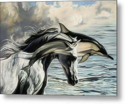 Brother Earth Sister Sea Metal Print