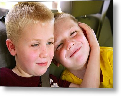 Brothers Love Metal Print by Shirley Heier