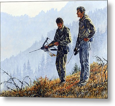 Metal Print featuring the painting Brothers by Steve Spencer