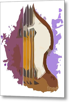 Brown Bass Purple Background 2 Metal Print by Pablo Franchi