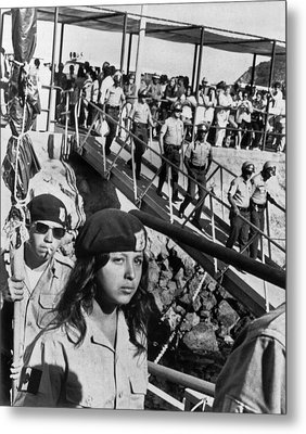 Brown Berets Leave Catalina Metal Print by Underwood Archives