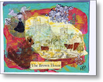 Brown House No 1 Metal Print