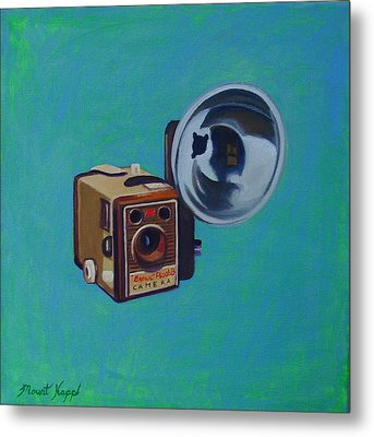 Brownie Box Camera Metal Print by The Vintage Painter