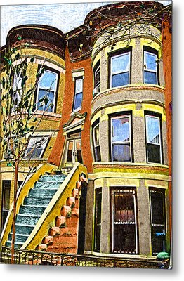 Brownstone Metal Print