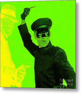Bruce Lee Kato And The Green Hornet - Square P54 Metal Print by Wingsdomain Art and Photography