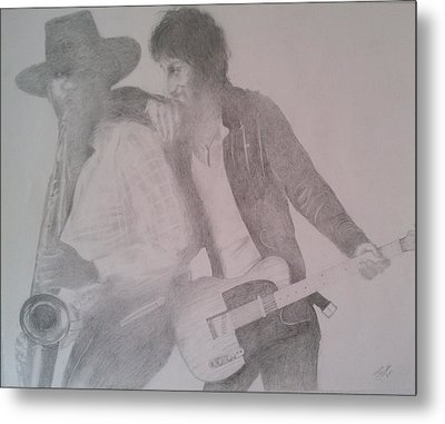 Bruce Springsteen And Clarence Clemons Metal Print by Jami Cirotti