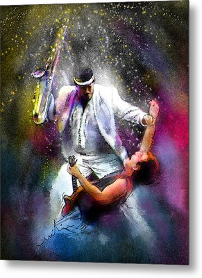Bruce Springsteen And Clarence Clemons Metal Print by Miki De Goodaboom