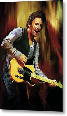 Bruce Springsteen Artwork Metal Print by Sheraz A
