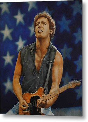 Bruce Springsteen 'born In The Usa' Metal Print by David Dunne