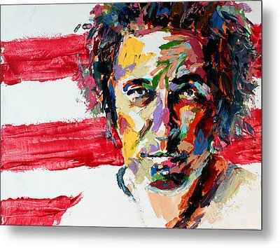 Bruce Springsteen Metal Print by Derek Russell