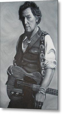 Bruce Springsteen I Metal Print by David Dunne