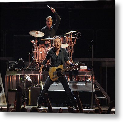 Bruce Springsteen In Concert Metal Print