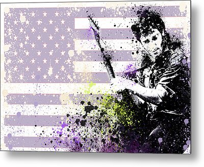 Bruce Springsteen Splats Metal Print