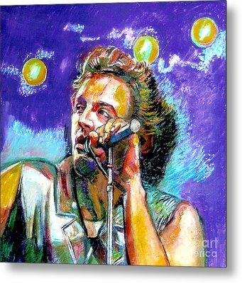 Bruce Springsteen Metal Print by Stan Esson