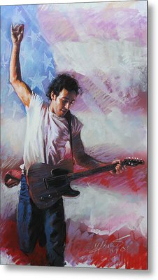 Bruce Springsteen The Boss Metal Print