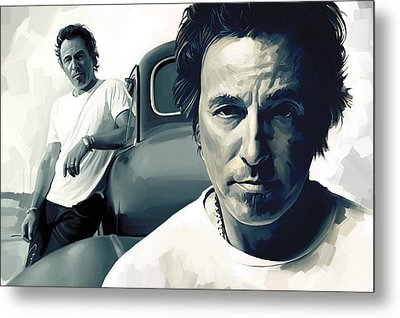 Bruce Springsteen The Boss Artwork 1 Metal Print by Sheraz A