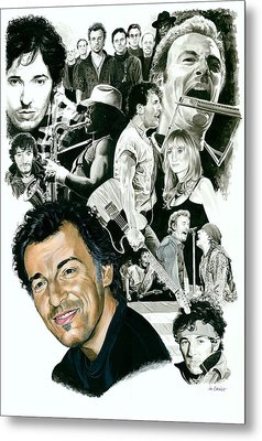 Bruce Springsteen Through The Years Metal Print by Ken Branch