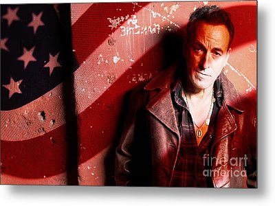 Bruce Springsteen Today And Yesteryear Metal Print