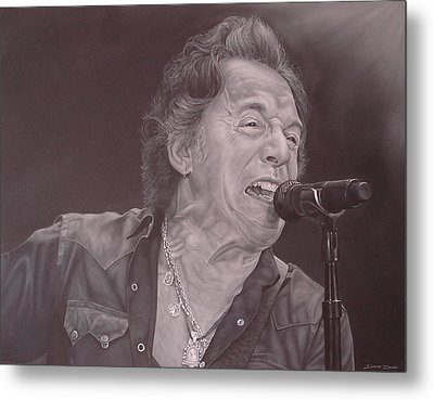 Bruce Springsteen V Metal Print by David Dunne