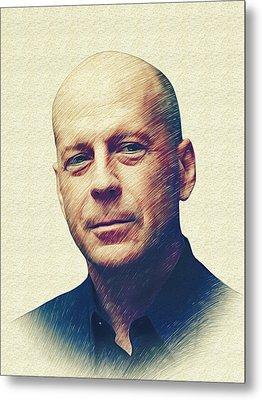 Bruce Willis Metal Print