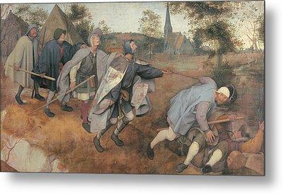 Bruegel Pieter Il Vecchio, Parable Metal Print by Everett