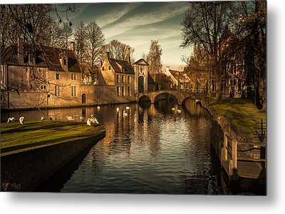 Bruges Canal Metal Print by Chris Fletcher