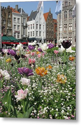 Metal Print featuring the photograph Brugge In Spring by Ausra Huntington nee Paulauskaite