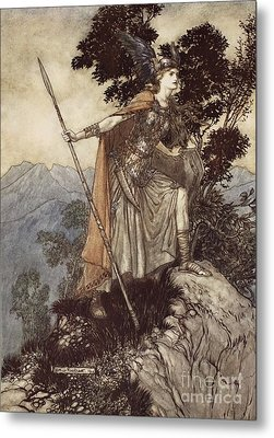 Brunnhilde From The Rhinegold And The Valkyrie Metal Print