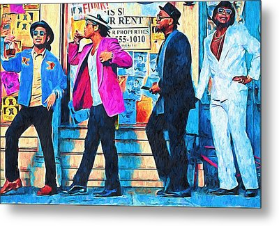 Bruno Mars - Uptown Funk 8 Metal Print