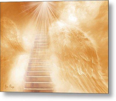 Brush Of Angels Wings Metal Print