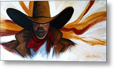 Brushstroke Cowboy #4 Metal Print by Lance Headlee