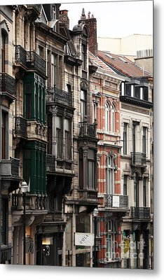 Brussels Architecture Metal Print by John Rizzuto