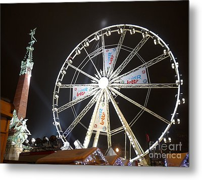 Metal Print featuring the photograph Brussels Christmas Market by Deborah Smolinske