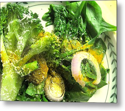 Brussels Sprouts And Turmeric Metal Print