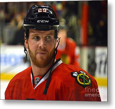 Metal Print featuring the photograph Bryan Bickell by Melissa Goodrich