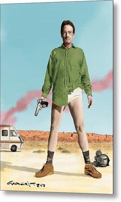 Bryan Cranston As Walter White  @ Tv Serie Breaking Bad Metal Print
